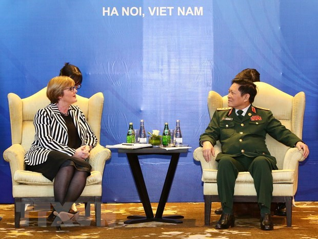 Defence Minister receives Australian counterpart hinh anh 1