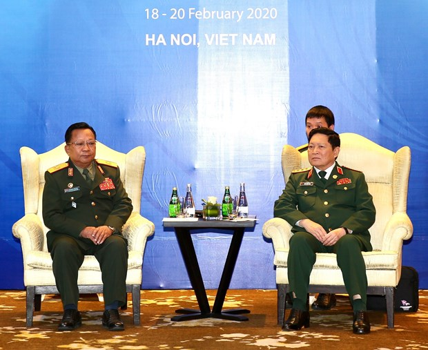 ASEAN 2020: Defence ministers of Vietnam, Laos meet in Hanoi hinh anh 1