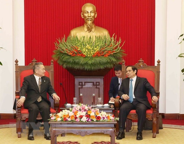 Party official receives Japanese Communist Party delegation hinh anh 1