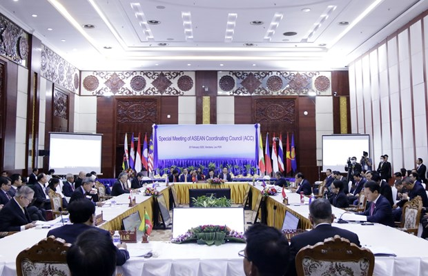 Press Statement by the Chairman of the ASEAN Coordinating Council hinh anh 1