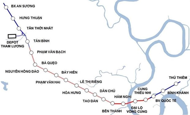 Work on HCM City's Metro Line No.2 to begin next year hinh anh 1