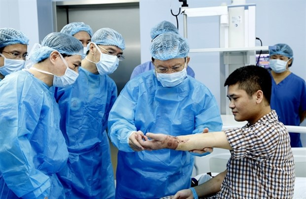 Vietnam successfully performs world's first limb transplant from live donor hinh anh 1
