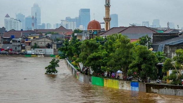 Jakarta floods leave at least five people dead, three missing hinh anh 1