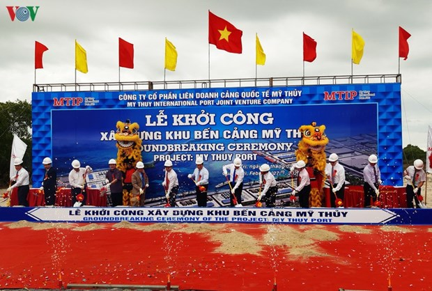 Construction of My Thuy Port begins in Quang Tri hinh anh 1
