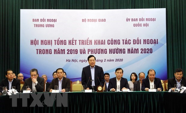 Annual meeting discusses 2020 external work hinh anh 1