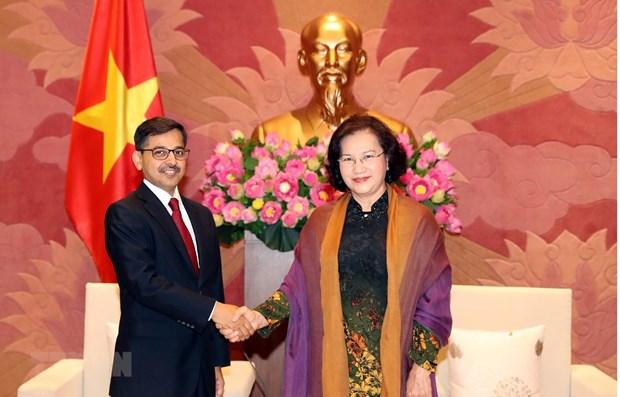 NA Chairwoman receives Indian Ambassador hinh anh 1