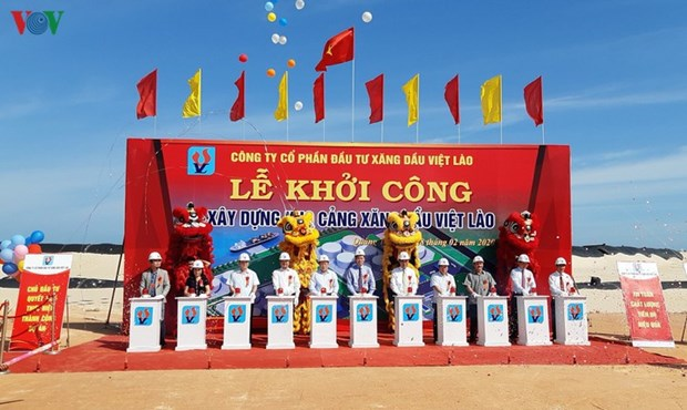 Work starts on petrol warehouse in central Quang Tri province hinh anh 1