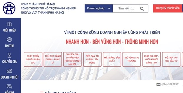 Portal to support SMEs in Hanoi launched hinh anh 1