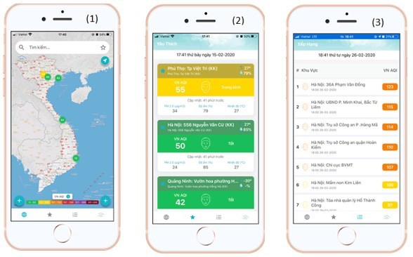 Mobile app helps users update information about air quality hinh anh 1