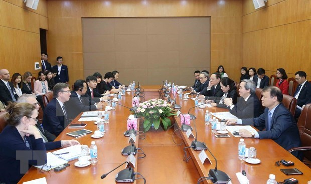 Party official receives US-ASEAN Business Council delegation hinh anh 1