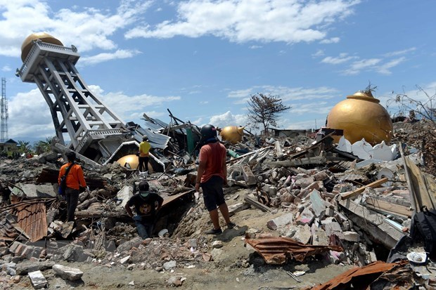 Indonesia: 779 earthquakes recorded in February hinh anh 1
