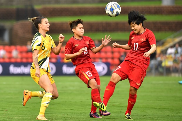 Women's football: Vietnam lose to Australia in Olympic play-off hinh anh 1