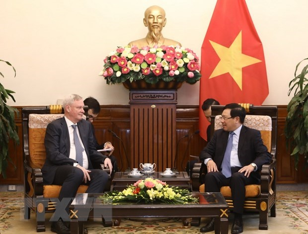 Deputy PM Pham Binh Minh receives Russian deputy foreign minister hinh anh 1