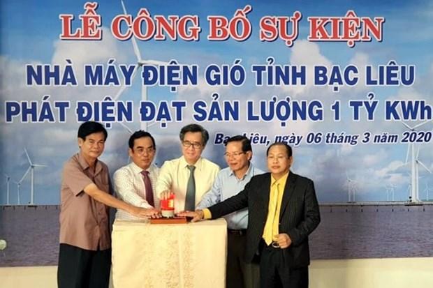 Bac Lieu wind power plant marks 1 billionth kWh hinh anh 1