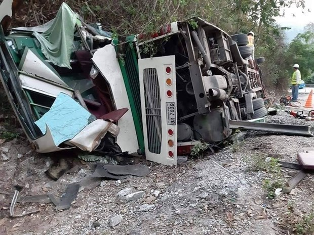 Two Vietnamese die in bus accident in Laos hinh anh 1