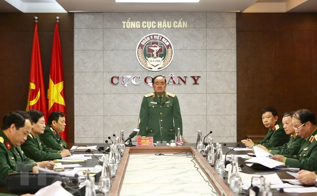 Army maps out scenario to fight COVID-19 outbreak at five levels hinh anh 1