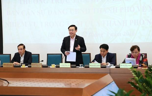 Hanoi seeks to promote economic growth despite COVID-19 outbreak hinh anh 1