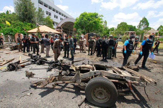 Bombings injure 18 people in southern Thailand hinh anh 1