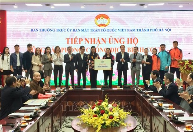 Hanoi donors contribute over 176,000 USD to COVID-19 relief effort hinh anh 1