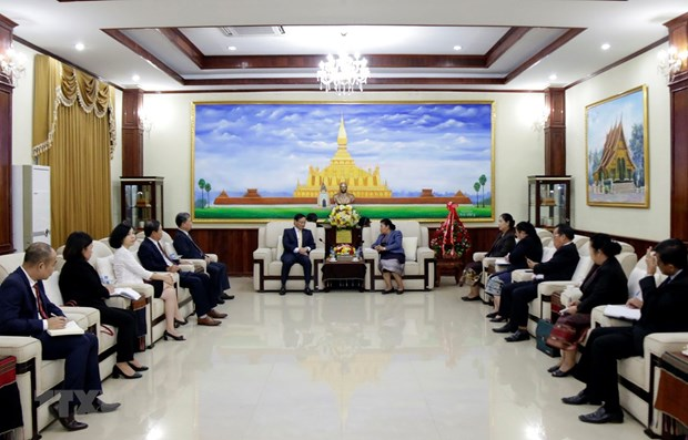 Leaders congratulate Laos on Party's 65th founding anniversary hinh anh 1