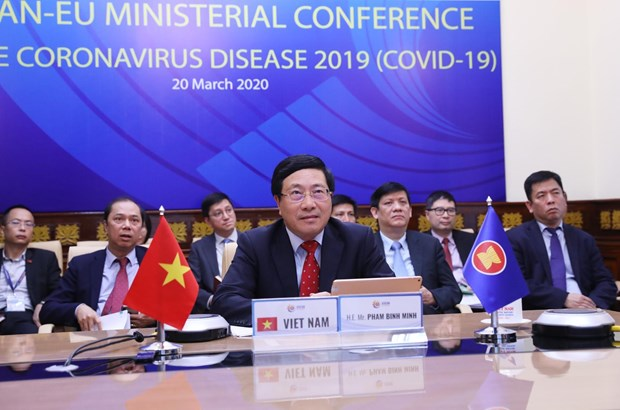 ASEAN, EU work closely in COVID-19 fight hinh anh 1