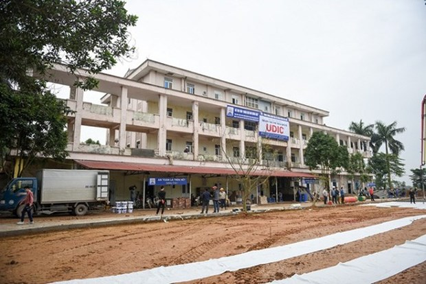 Hanoi leader lauds rapid hospital construction in response to COVID-19 hinh anh 1