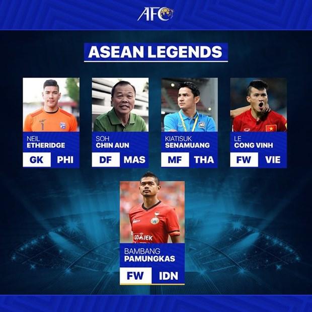 "Vietnamese striker Le Cong Vinh named ""ASEAN legend"" hinh anh 1"