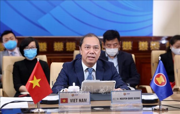 ASEAN, US enhance cooperation in COVID-19 fight hinh anh 1