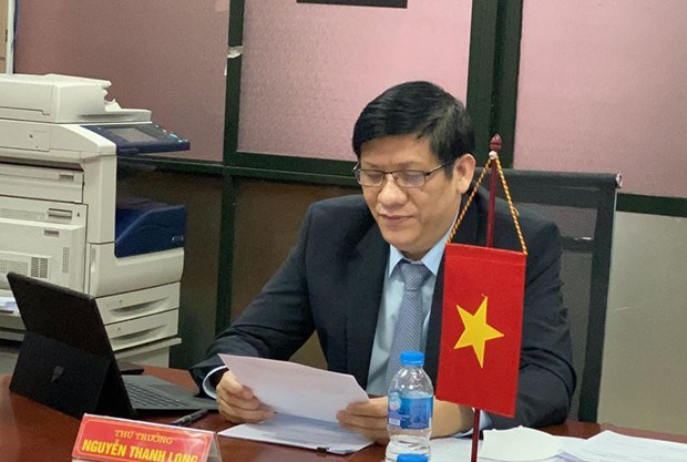 Vietnamese, Lao health officials discuss ways to fight COVID-19 hinh anh 1