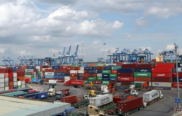Cargo handled at seaports up in Q1 hinh anh 1