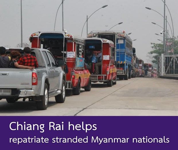 Thai authorities help stranded Myanmar workers return home hinh anh 1