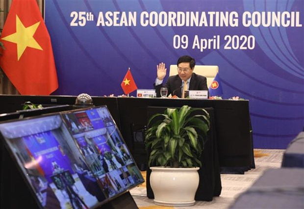ASEAN foreign ministers agree to set up COVID-19 response fund hinh anh 1