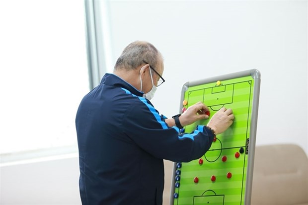 Coach Park sets new tactics for national team hinh anh 1
