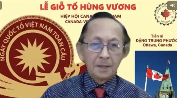 Vietnam Ancestral Global Day celebrated online in Canada hinh anh 1