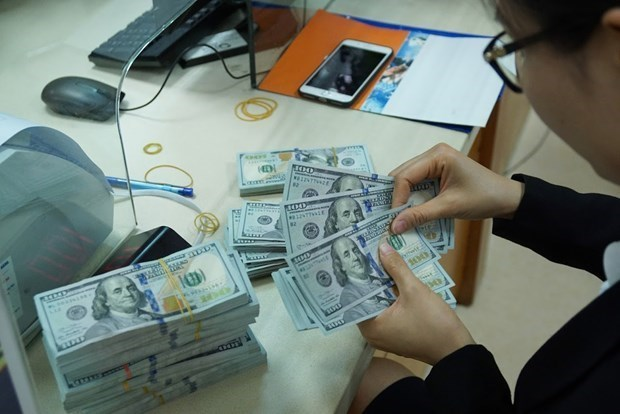 Reference exchange rate up 8 VND on April 21 hinh anh 1
