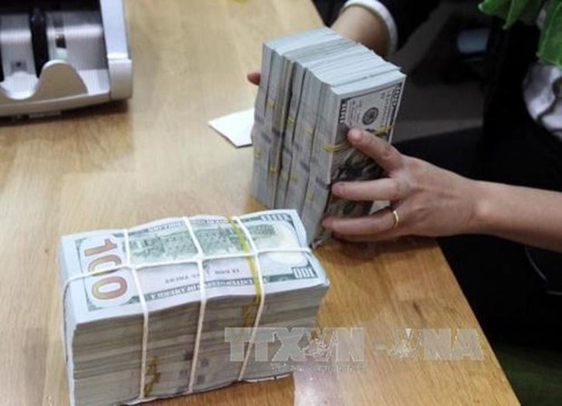Reference exchange rate up 10 VND on April 22 hinh anh 1