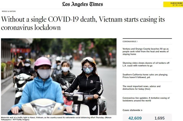 Foreign media praise Vietnam's achievements in COVID-19 fight hinh anh 1