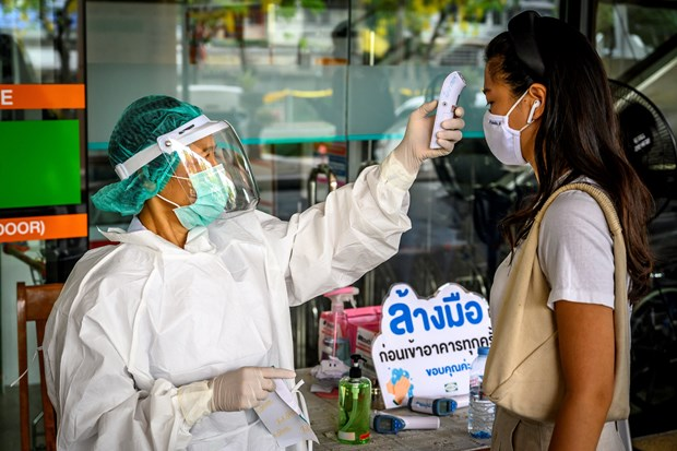 Laos, Thailand increase measures against COVID-19 hinh anh 1