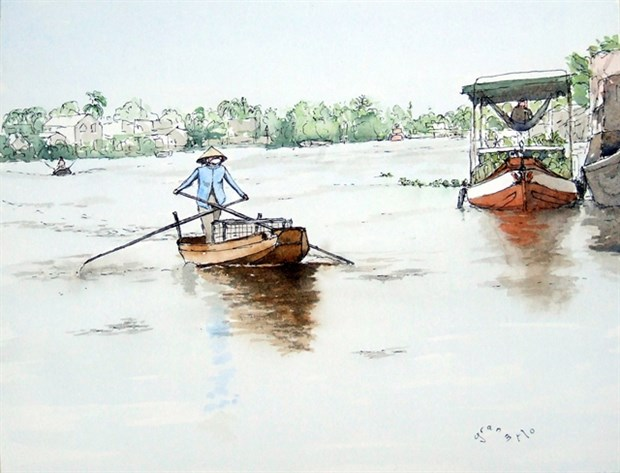 Vietnamese landscapes expressed through French tourist's eyes hinh anh 1