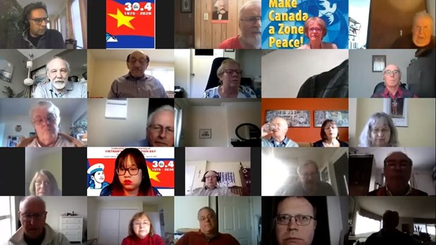Vietnamese, Canadian friends come together online on national reunification anniversary hinh anh 1