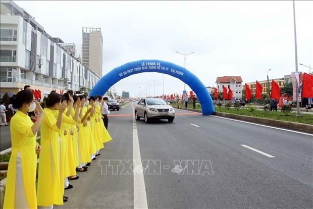 Hai Phong: urban arterial road open to traffic hinh anh 1