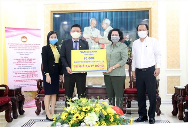 Over 153 billion VND mobilised in HCM City to support COVID-19 fight hinh anh 1