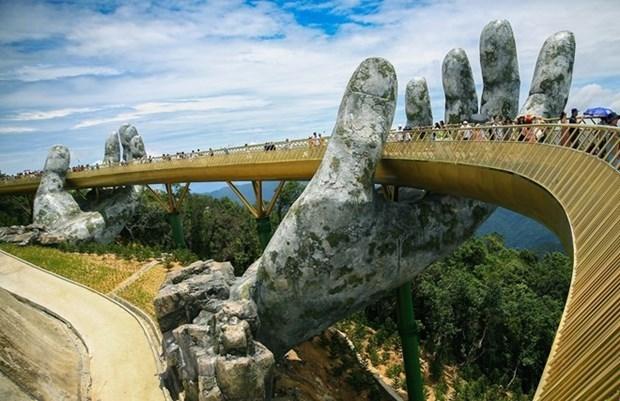 Da Nang's Golden Bridge wins top prize at online photo contest hinh anh 1