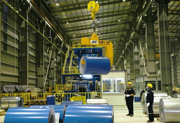 Hoa Phat's construction steel exports up 17 percent in April hinh anh 1