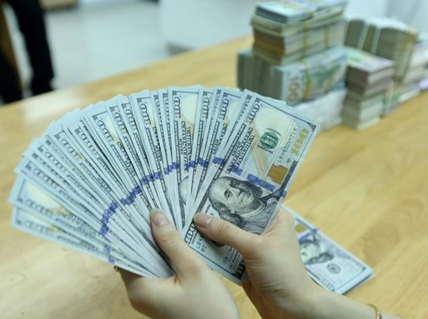 Reference exchange rate down 8 VND hinh anh 1