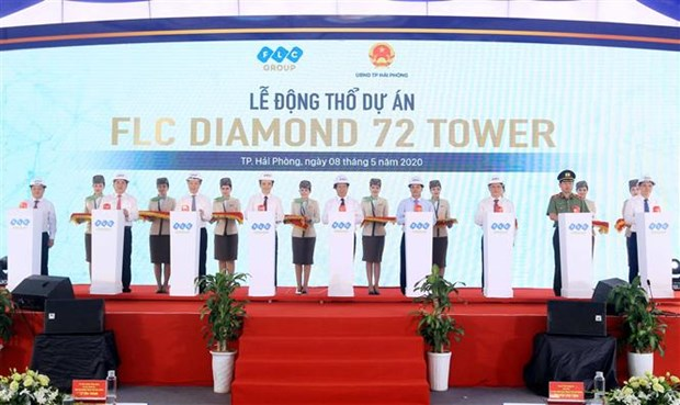 Work on construction of FLC 72-storey tower starts in Hai Phong hinh anh 1