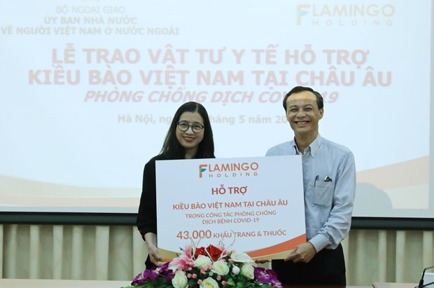 Medical supplies for Vietnamese in Europe to cope with COVID-19 hinh anh 1