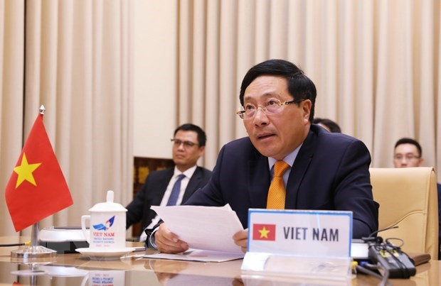Deputy PM attends UNSC video meeting celebrating end of World War II hinh anh 1