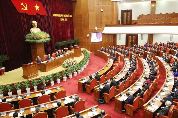 First working day of 12th session of Party Central Committee takes place hinh anh 1