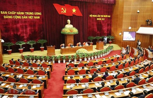 Party Central Committee's 12th plenum concludes hinh anh 1